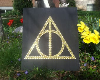 Harry Potter Deathly Hallows String Art