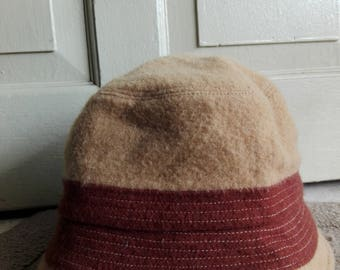 DKNY Autumn/WInter Bucket Hat in Brown Color/used