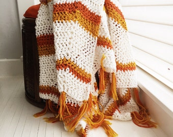 Vintage afghan, vintage blanket, vintage throw, boho blanket, boho decor, boho afghan, retro decor, vw decor, retro blanket