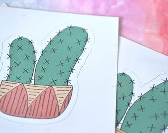 Twin Cactus Sticker