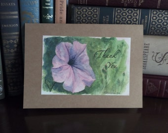Petunia Thank You Card -- sold in sets of 5 -- envelopes included
