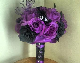 Purple Wedding Bouquet Customized