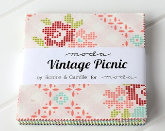 Vintage Picnic Charm Pack by Bonnie & Camille, by Moda Fabrics