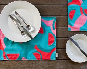Handmade Placemats Watermelon Design
