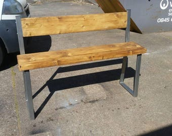 Industrial chic breakfast bar bench