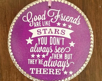 Friends are like stars plaque, best friend gift