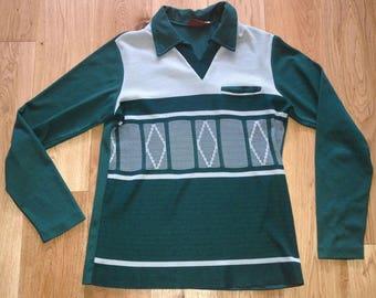 Vintage Jumper Sweater Adult retro vintage Green 1970s - Paulo Conti