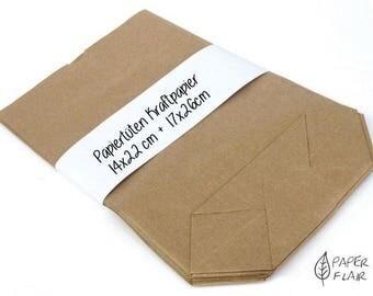25 paper bags kraft paper nature