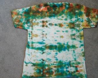 A wacky tie dye tee shirt