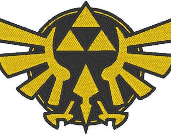 Zelda Triforce Embroidered Patch
