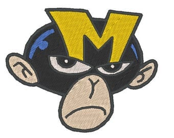 Monkey embroidered patch