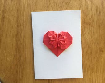 Love heart Origami  card