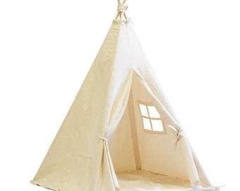 Teepee, Play Tent, Kids Teepee, Childrens Teepee, Teepee Tent, Tipi, Playhouse, Canvas, Canvas Teepee