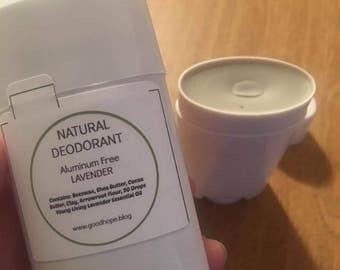 Natural Deodorant, Aluminum Free Deodorant, Lavender Deodorant, Natural Deodorant, Clay Deodorant