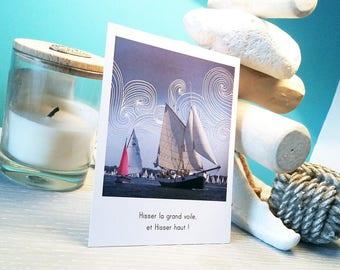 4 postcards - style polaroid - on the theme of breton heritage
