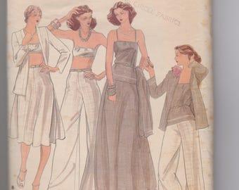 Butterick 4284 / Misses Jacket, Camisole, Bandeau Bra, Skirt & Pants / Size 16 / 70's Vintage Sewing Pattern
