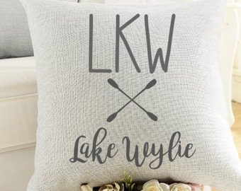 Lake House Custom Pillow Cover-Housewarming, Lake House, Retirement, Vacation Home