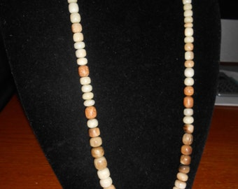 Fossilized ivory necklace