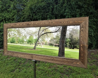 reclaimed wood mirror/ floor mirror/ full length mirror/ large mirror/ vanity mirror/ bathroom mirrors/ rustic mirrors