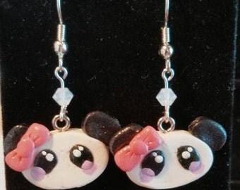 Kawaii Panda Earrings