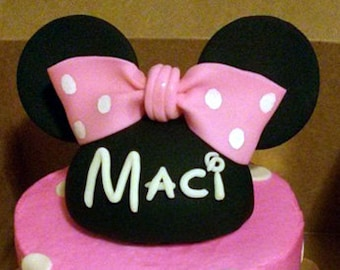 Fondant Mickey/Minnie Mouse Hat Cake Topper