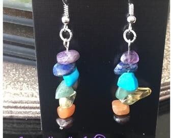 Chakra pendant earrings