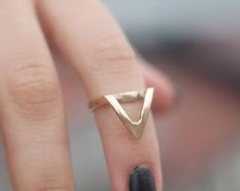 BRASS Ring, 14k Gold Ring, 925 Silver Ring,  Handmade gold ring, handmade silver ring, minimalist, triangle shape, geometric