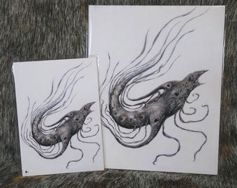 Dreamfish: Illustration Inkjet Print