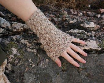 Beige Knitted Wrist Warmers