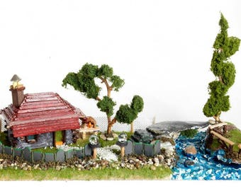 Country House Recycled Art