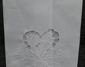 White Cotton Geese Kitchen Towel