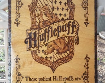Hufflepuff House Crest plaque