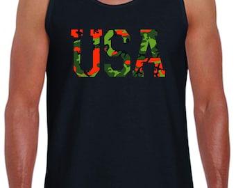 USA Camo Print Tank Top