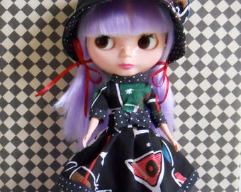Blythe clothes, Basaak clothes, Blythe outfit, Basaak outfit, Retro doll clothes, Blythe doll dress, Retro Blythe dress, Doll clothes