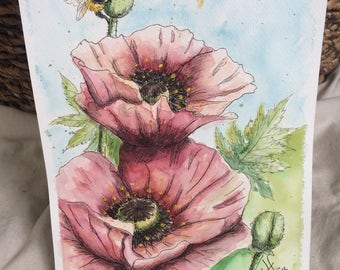 Pink Flower Watercolor