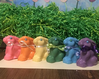 Colorful Bunnies - set of 6