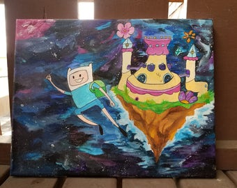 Adventure Time Finn the Human Space Travel Painting