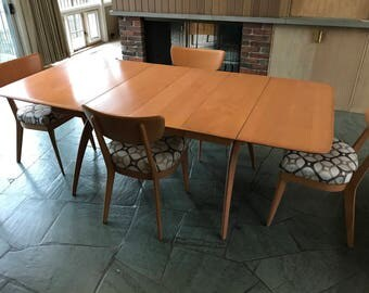 Vintage Heywood Wakefield Dining Table & 4 Chairs - Excellent Condition