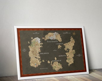 World of Warcraft map / Lands of Kalimdor / Eastern Kingdoms / Map of Azeroth / World of warcraft poster / Clearence sale A2 size