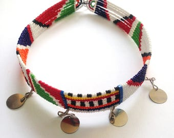 Maasai Necklace - African Beaded Choker