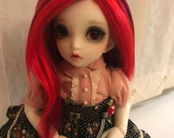 Blood Moon brushed yarn yosd bjd wig