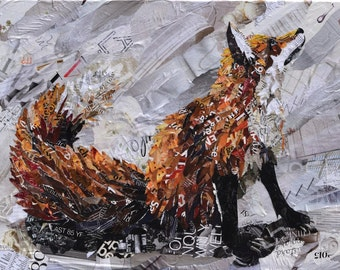 Fox Collage Giclee Print