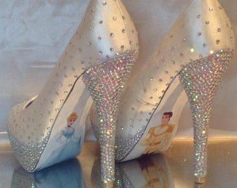 Disney crystal wedding heels