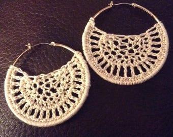 Crochet Thread Earrings