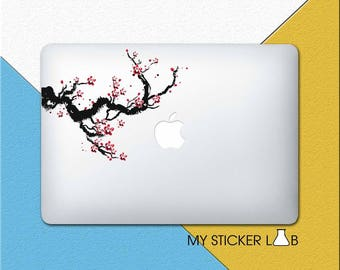 Pink Sakura MacBook Decal Sakura Blossom Macbook Sticker Sakura Tree Sticker Sakura Blossoms Spring Branch Flower Nature Trees Vinyl cmac062