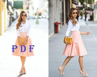 Digital Pattern -PDF Sewing Pattern by Style Adi - Sewing Project Women's Skirt / Summer Skirt / Comfortable Skirt