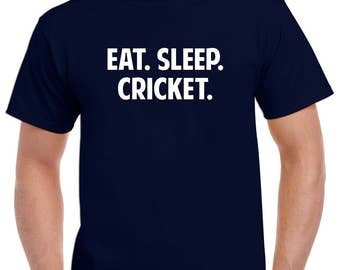 Eat Sleep Cricket Shirt- Cricket Tshirt- Cricket Gift