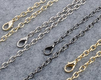 7mm Gold silver gunmetal Chain Strap purse strap handles bag hadnbag Purse Replacement Chains Purse Finished Chain straps High Quality