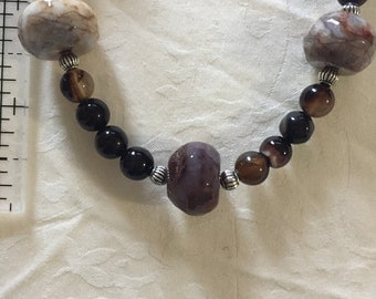 Beautiful tourmaline and marble necklace