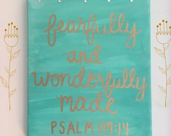 Psalm 139:14 Bible Verse Canvas